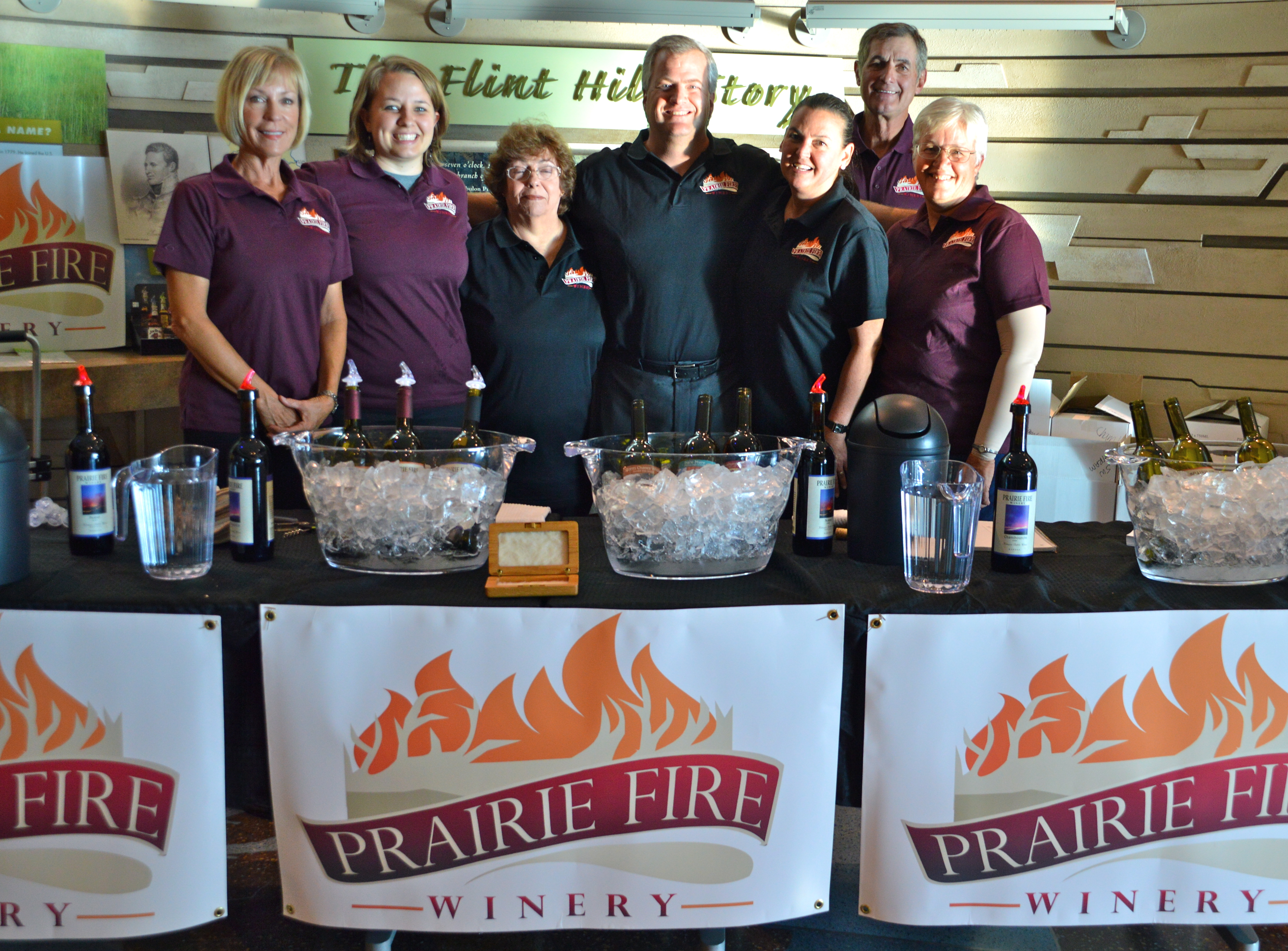 The Prairie Fire Winery Kansas Wine Team at the Flint Hills Discovery Center