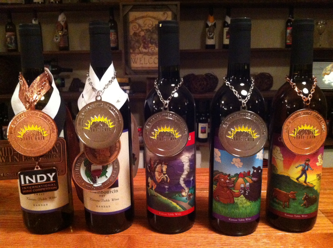 Prairie Fire Winery Florida medals