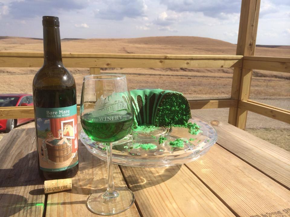 Prairie Fire Kansas Wine Shamrock Cake