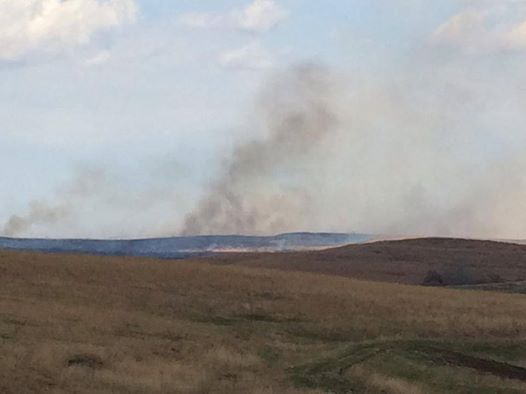 Kansas Flint Hills Pasture Burning From the Vineyard