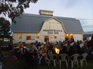 A beautiful barn at Pioneer Bluffs