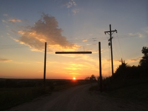 The end of another great day in the Flint Hills at Bacchus Ranch, home of Prairie Fire Winery.