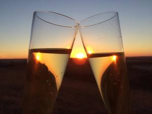 Here on Bacchus Ranch we raise a glass of Kansas Wine to all of you!