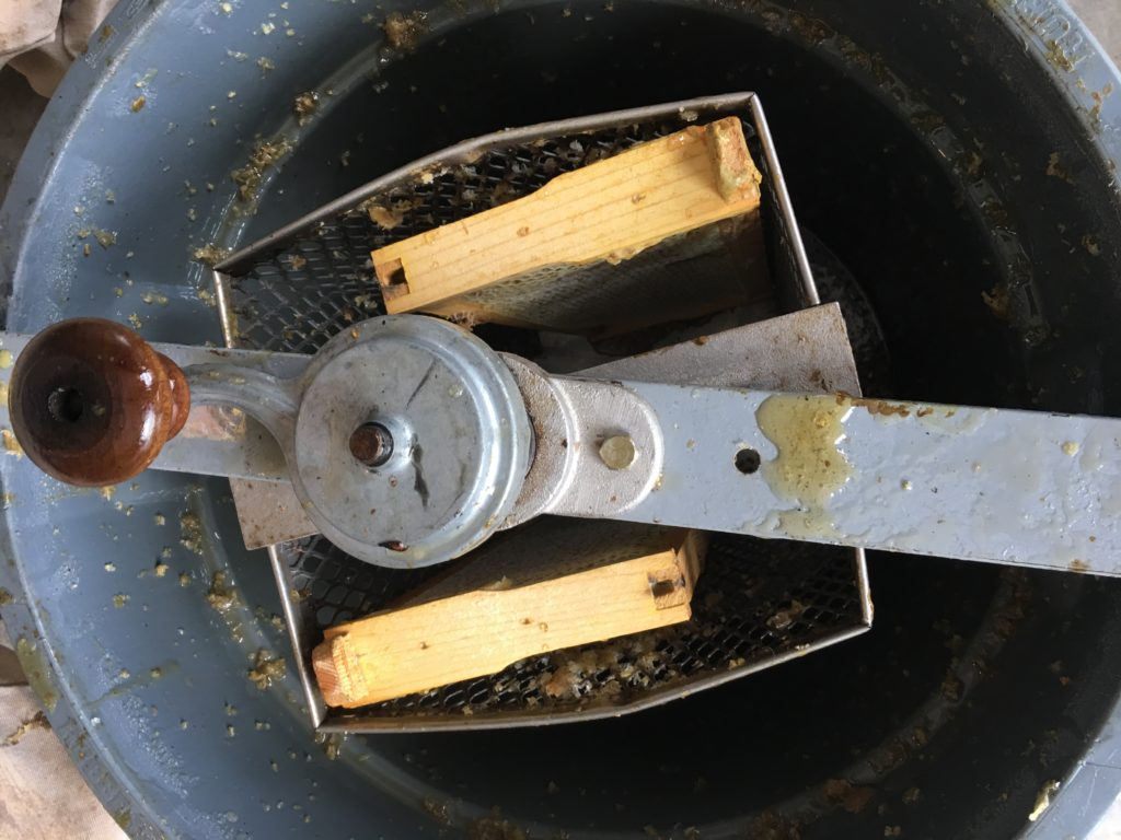extractor for honey frames
